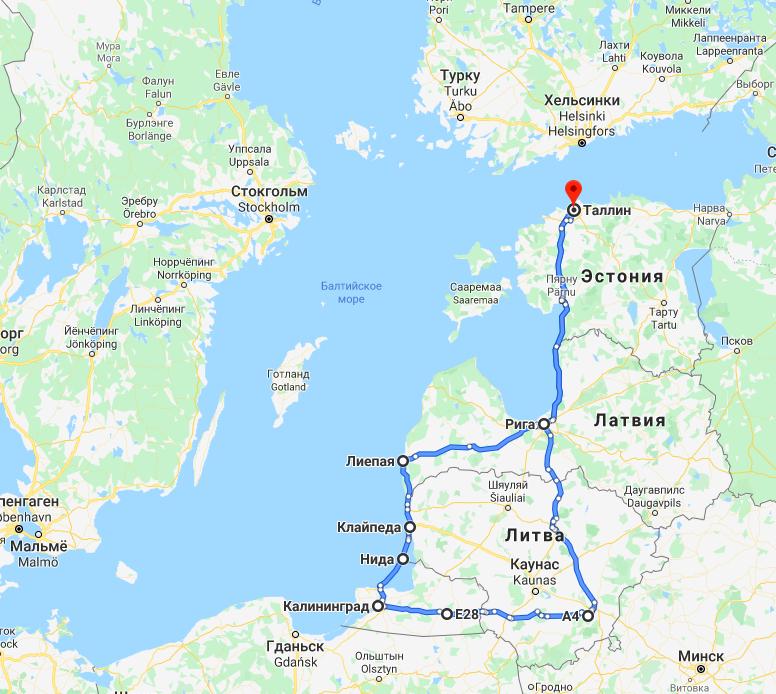 Baltikum och Kaliningrad,  7 – 14 juni    2020
