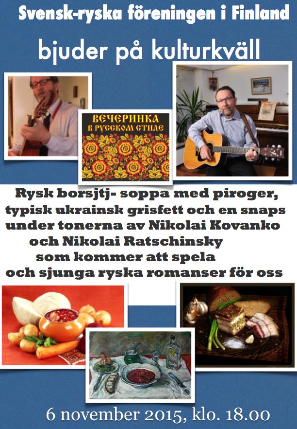 Kulturkväll 06.11.2015