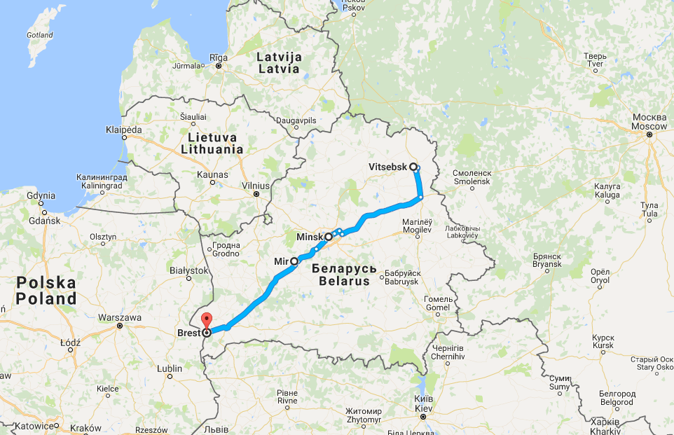 Vitryssland 5 – 10 mai 2017