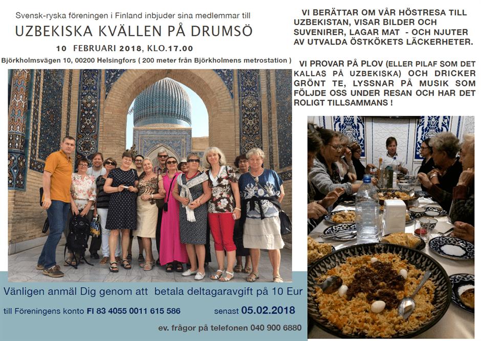 Uzbekisk kväll 10 februari 2018